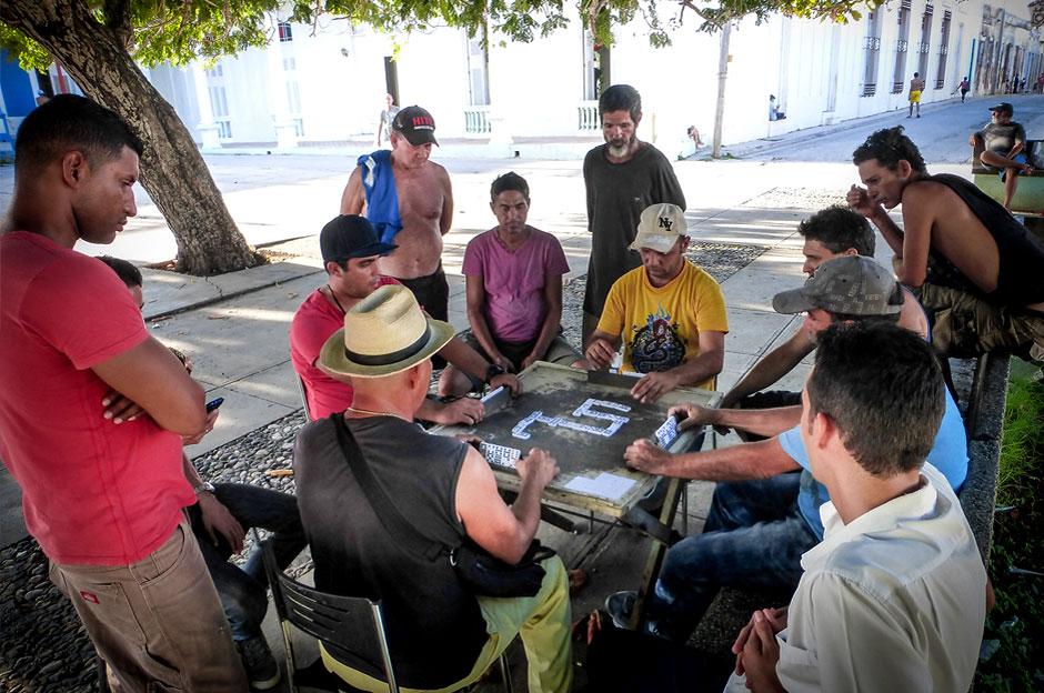 Joueurs dominos Cuba Beatriz Aebischer